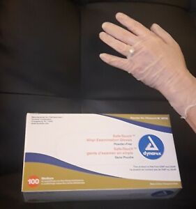EXAM GLOVES, 100 PCS PER BOX, SIZE MEDIUM