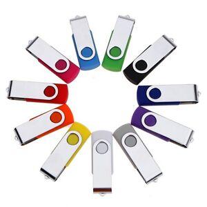 16GB 8GB Metal Flash Memory Swivel USB 2.0 Stick Pen Drive Storage Thumb U Disk
