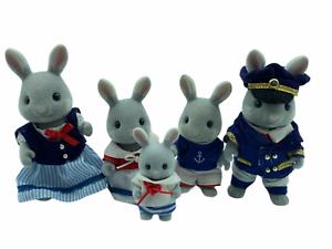 Calico-Critters-Sylvanian-Families-Sea-breeze-Rabbit-Family-RETIRED-HTF
