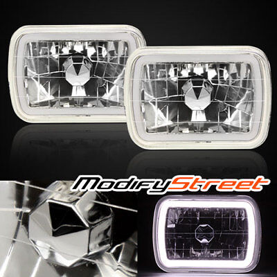 1978-1986 Ford F-150 7X6 H6014//6052//6054 Chrome Crystal SMD Ring Halo White H...