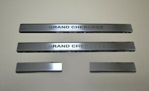 Stainless-Steel-Door-Sill-Guard-Scuff-Protectors-Jeep-Grand-Cherokee-WK-2005-10