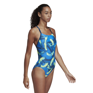 Details about Adidas Women Swimsuit Swimming Parley Commit Pool Training Beach Blue DQ3327 New