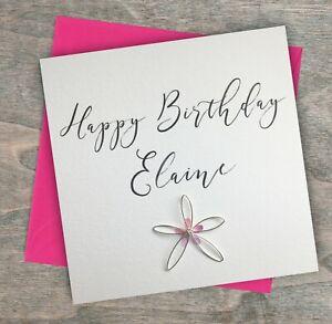 Personalised Handmade Birthday Card Best Friend Mum Godmother Sister Name Ebay