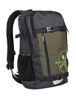 Chiemsee Zaino School Backpack Black / White Una Custodia Di Plastica è Compartimentata Per Lo Stoccaggio Sicuro