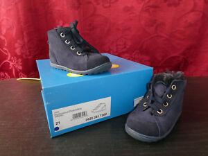 premium selection 9bd51 cba00 Details zu NEU *** RICHTER Babyschuhe blau, Warmfutter, EU-Gr. 21 - Karton  zum Beschriften