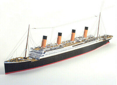 1:400 Queen Mary Cruise Liner Ship 3D Paper Model Puzzle Kit DIY Approx 74cm L