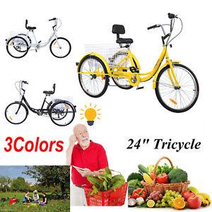 24-034-Adult-Tricycle-3-Wheel-7-Speed-Bicycle-Trike-Cruiser-Basket-Backerest-300lbs
