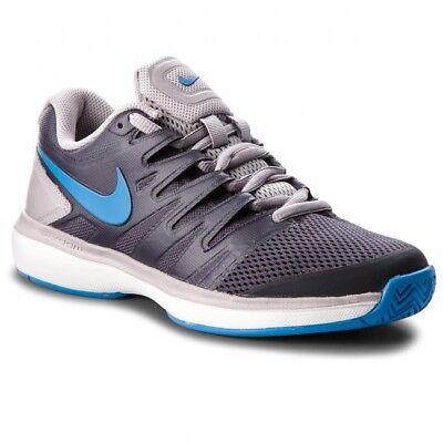 Aggressivo Nike Air Zoom Prestige Tour Tennis Trainer-grigio E Blu Uk 4.5-