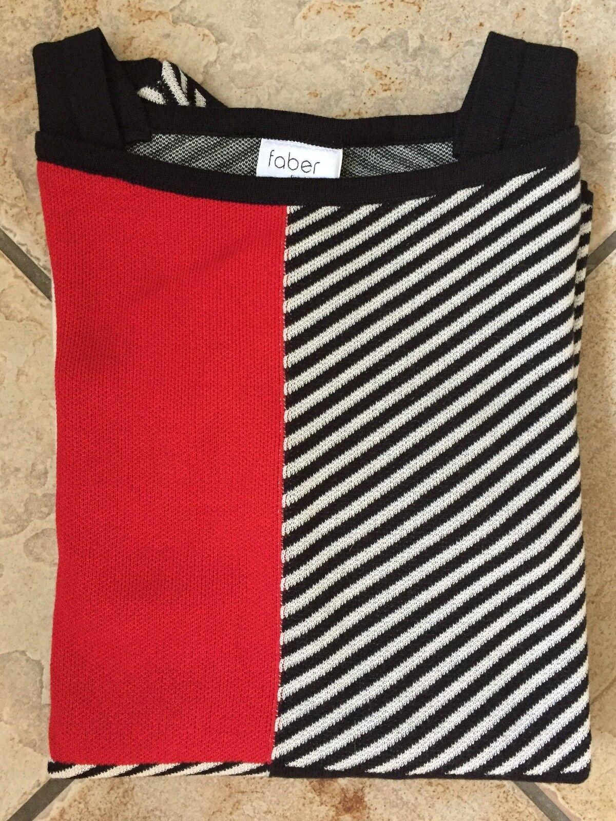 Donna Maglione FABER manica lunga Beige Rosso Nero Nero Nero Con Motivo Tg. 40 add97f