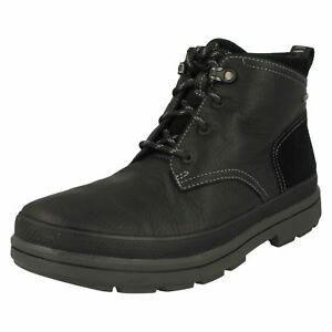 Rushway Mid Toe Lace Clarks in Casual Mens pelle Black Up Gore stivali tex vH1ZPw