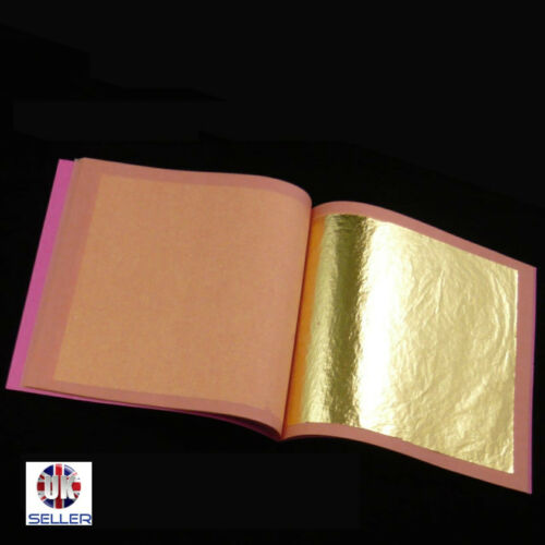 Gold Leaf Silver Imitation Leaf 25 Leaves 140mm or160mm Loose Copper Leaf