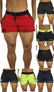 La imagen se está cargando Para-hombres-Pantalones-Cortos-Correr-Gimnasio- Entrenamiento-Culturismo- b585b0e386a36
