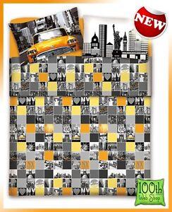 Sheets Completo Lenzuola Singolo Una Piazza American Grigio Giallo 100 Cotone Clb1 Home Garden