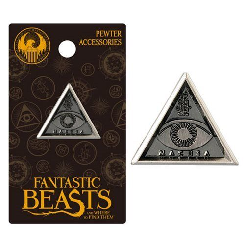 MACUSA TRIANGLE LAPEL PIN BADGE FANTASTIC BEASTS AND WHERE TO FIND THEM NEW