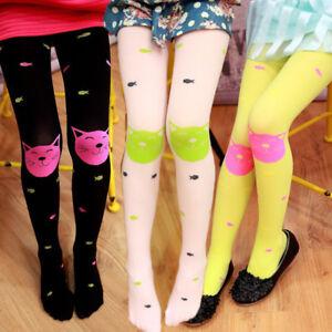 Toddler Kids Baby Girls Pantyhose Cat Toed Utralthin Stockings Long Socks D