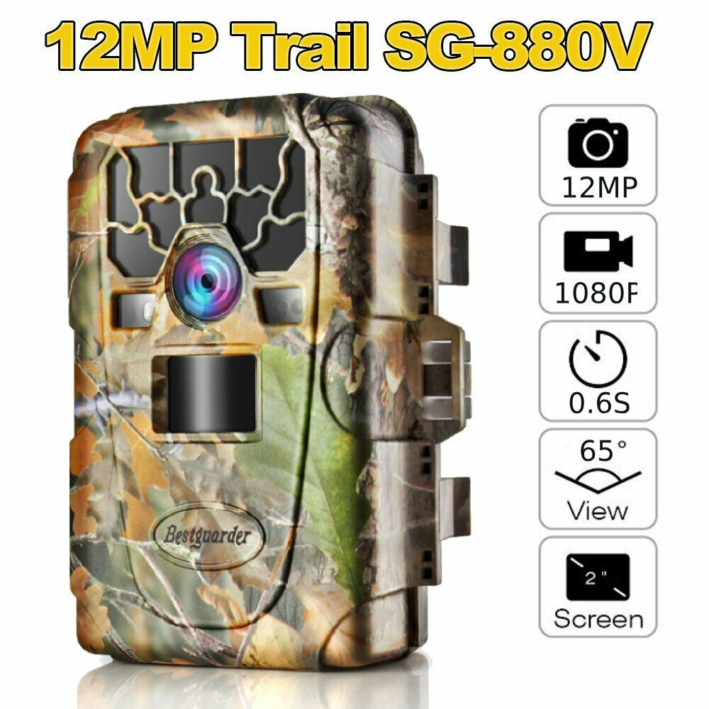 2  Hunting Camera Trail Camera Night Version  Trigger 12mp 1080p Ip66 Camera BE  discount promotions