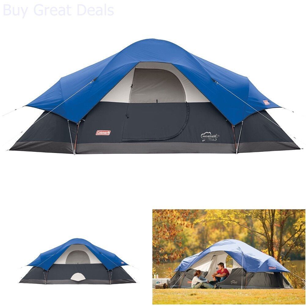 New Coleman Red Canyon 8 Person Tent, bluee Camping New