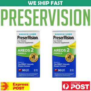 2-x-Bausch-Lomb-PreserVision-AREDS-2-Formula-90-Soft-Gels-Vision-AU-STOCK