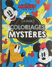 Disney Mickey Mouse & Friends workshop Adult Colouring Book French By Number
