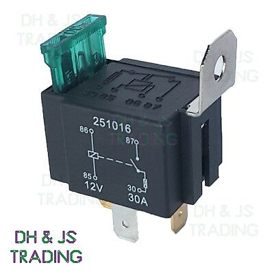 12V Relay 4 PIN Automotive 30AMP 30a Normally Open Contact Fused RY28 + 30a  fuse | eBay