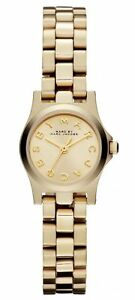 Marc-Jacobs-Henry-Dinky-Champagne-Dial-Gold-tone-Women-039-s-Watch-MBM3199-SD