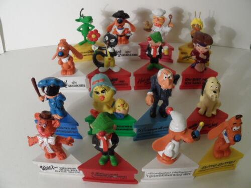 Vintage  verschiedene Comicfiguren auf Spruch Sockel Schleich 1980 unbespielt