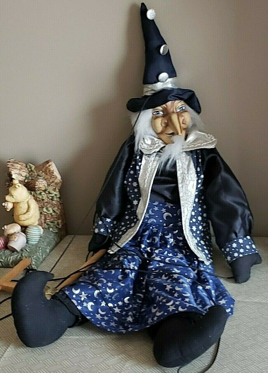 Mystical 32  Tall  PUPPET  Wizard Made in Germany