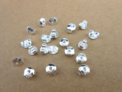 50PCS 925 Sterling Silver Butterfly BACK STOPPERS Earrings Jewelry Findings