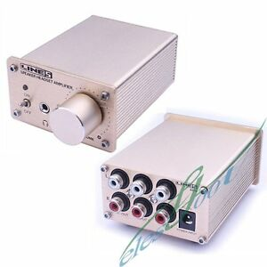 Speaker High Performance Stereo For Headphone Amplifier Splitter Double Source