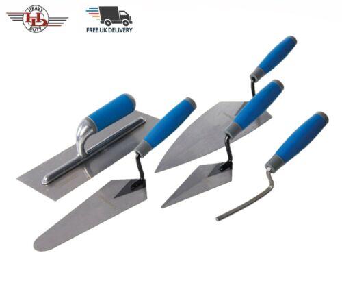 5pc Plastering Trowel,Gauging,Pointing,Brick Jointing Soft Grip Trowel Tools Set