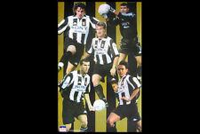 JUVENTUS FC Classic POSTER (1998) - Zinedine Zidane, del Piero, Peruzzi, Inzaghi