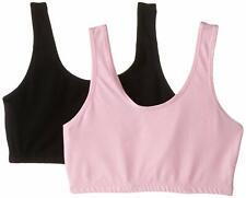Trimfit Big Girls Crop Top Bras with Built up Straps Pack of 4
