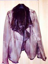 Ladies Designer Joseph Genuine reversibile cappotto di pelliccia di coniglio