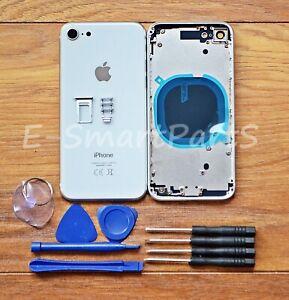 Alloggiamento-in-lega-di-metallo-completa-di-vetro-copribatteria-di-ricambio-per-IPHONE-8-Bianco