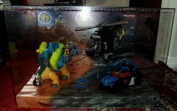Batman Fisher IMAGINEXT baticóptero Batimóvil iluminan tienda pantalla hablando Lego