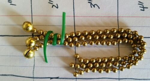 "Bead Chain Set 1//4/"" Brass for Antique 3 Chain Ceiling Light Vintage Glass Shade"