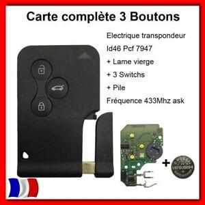 Carte-cle-Telecommande-electronique-Renault-Megane-2-Scenic-2-clio-3-3-BOUTONS