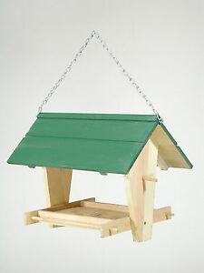 vogelfutterhaus fichtenholz vogelhaus zum aufh ngen 4. Black Bedroom Furniture Sets. Home Design Ideas