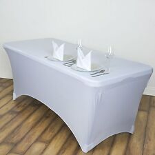 Stretch Spandex Rectangular Tablecloth 4Ft Folding Fitted Table Cover 1 Pcs