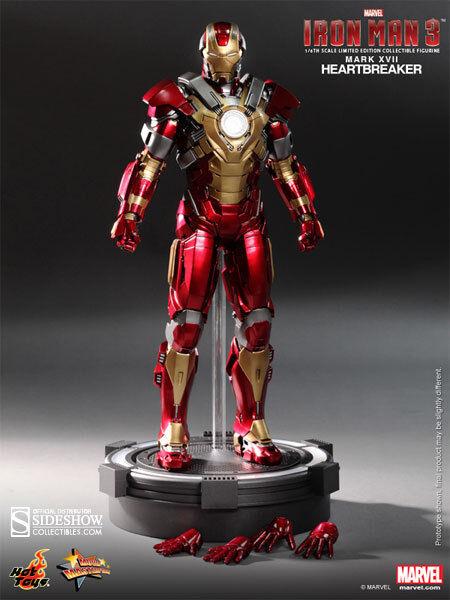 MARVEL Iron Man Mark 17 Heartbreaker Sixth Scale Action Figure Hot Toys MMS 212