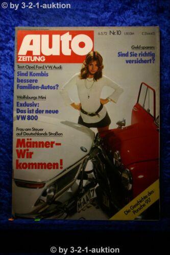Auto Zeitung 10//72 Porsche 917 Opel Ascona Irmscher VW 1600 Variant LE
