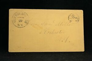 New-York-Clifton-Springs-1850s-Stampless-Cover-PAID-3-in-Circle-Ontario-Co