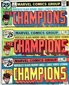 CHAMPIONS-5-6-7-Signed-1st-DARKSTAR-1st-RAMPAGE-KIRBY-Black-Widow-FINE