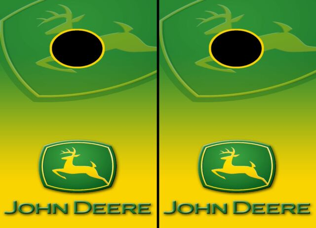 Strange John Deere Cornhole Wraps Vinyl Boards Decals Bag Toss Game Stickers Spiritservingveterans Wood Chair Design Ideas Spiritservingveteransorg