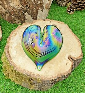 Neo Art Glass heart sterling silver frog fairy dragonfly butterfly Kris Heaton