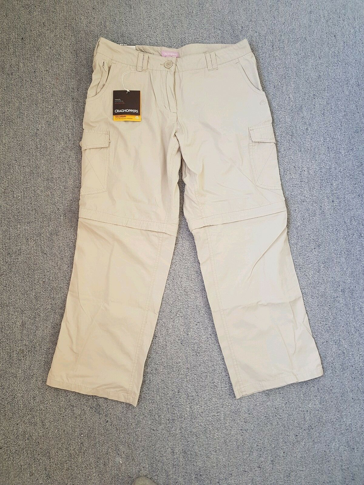 Craghoppers Ladies Stone Solar Dry Congreenible Trousers   Shorts Short