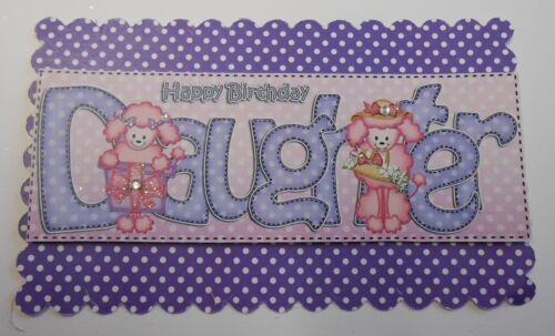 PK 2 POODLES DAUGHTER EMBELLISHMENT TOPPERS FOR CARDS OR CRAFTS