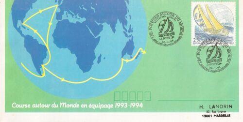 LETTRE COURSE AUTOUR DU MONDE EN EQUIPAGE AUCKLAND NOUVELLE ZELANDE 1994