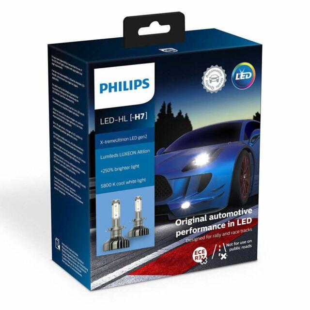 PHILIPS X-tremeUltinon H7 LED gen2 12V 25W PX26d More light 11972XUWX2 2 bulbs