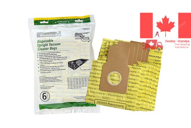 Genuine Kenmore Upright Vacuum Cleaners Bags Reduce Dust & Allergic Discomfort